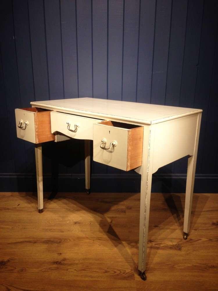Edwardian Painted Mahogany Dressing Writing Desk 2