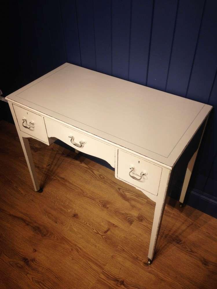 Edwardian Painted Mahogany Dressing Writing Desk 3