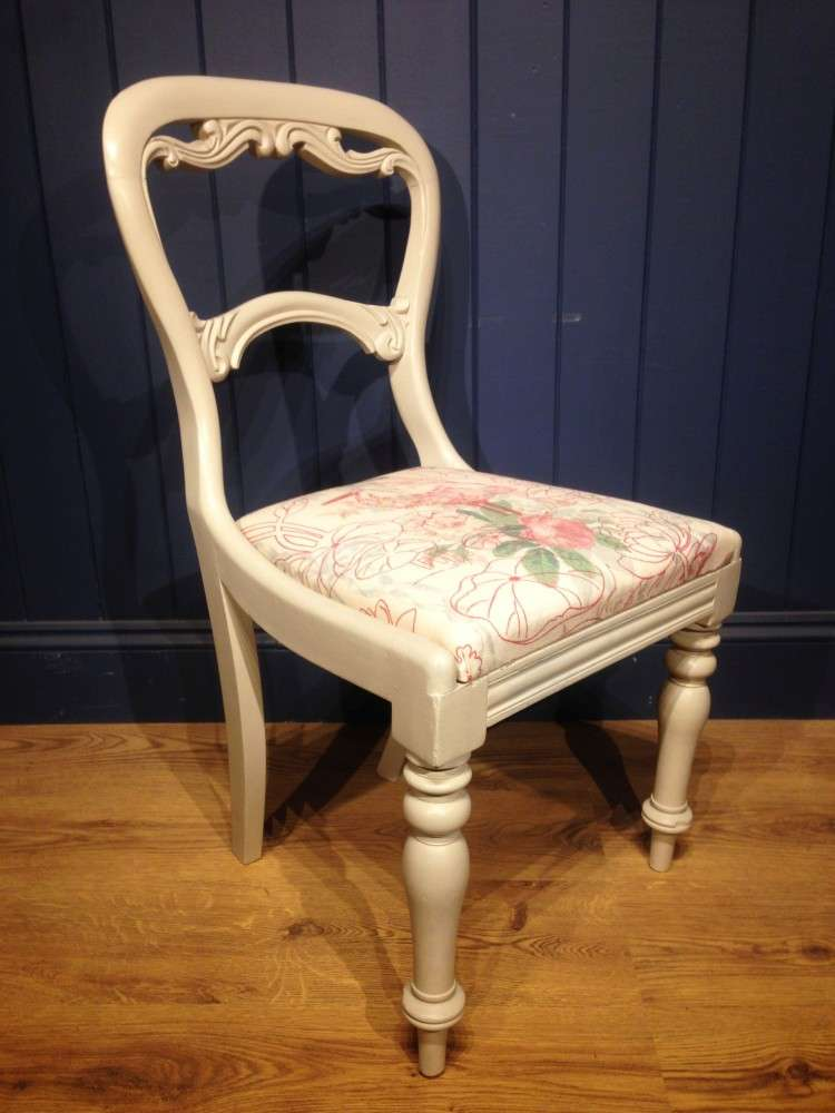Mid Victorian Painted Mahogany Balloon Back Chair2