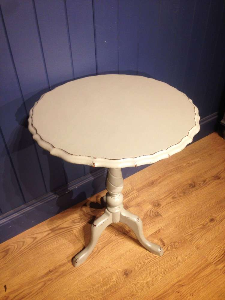 Mid Victorian Painted Oak Tripod Table1