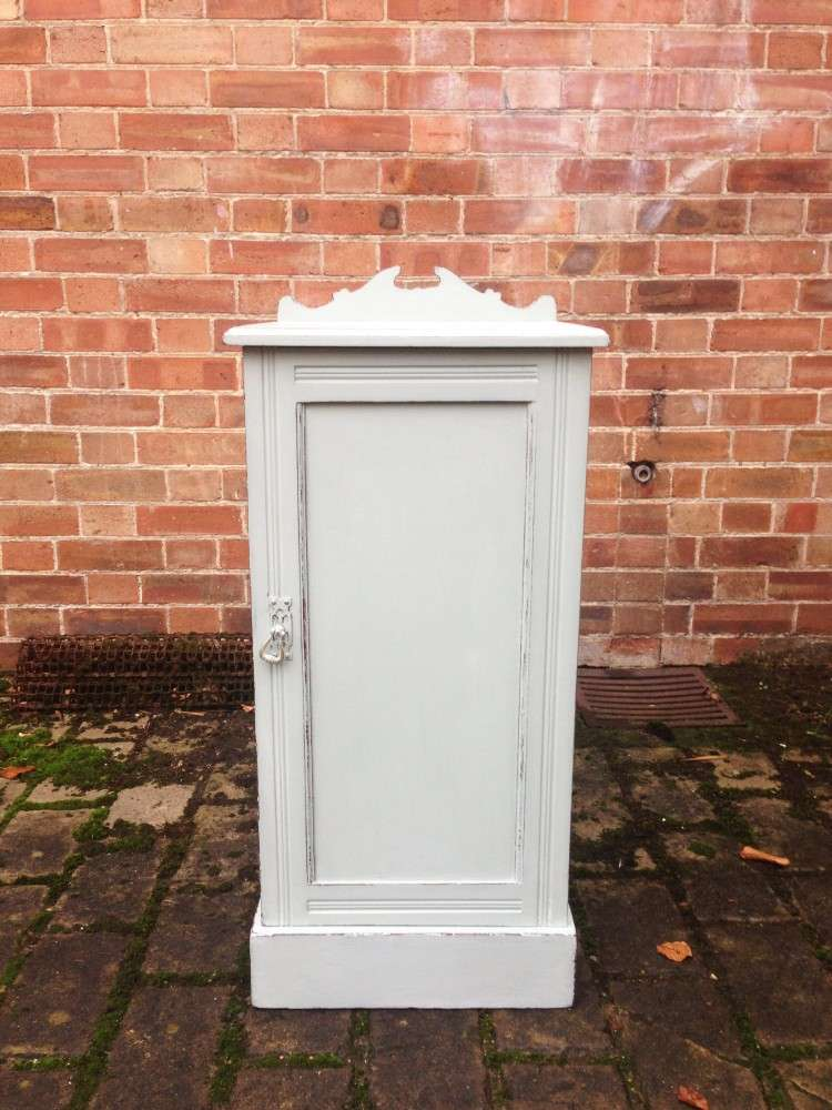 Edwardian Painted Mahogany Bedside Cupboard