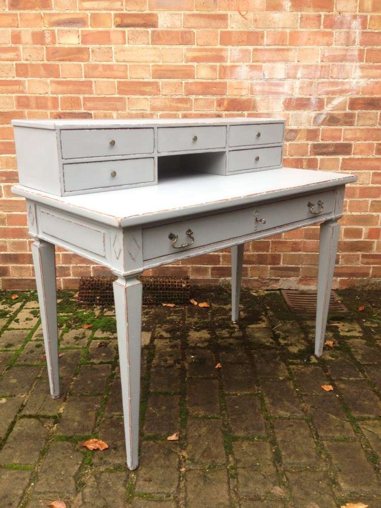 1960's French Provincial Painted Cherry Desk1