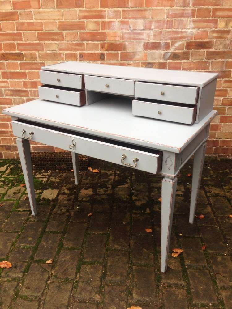 1960's French Provincial Painted Cherry Desk2