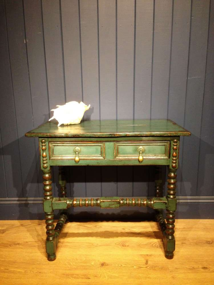 Late Victorian Painted Oak Side Table
