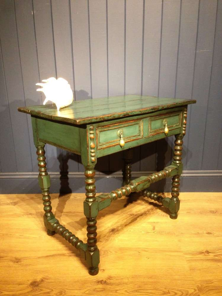 Late Victorian Painted Oak Side Table1
