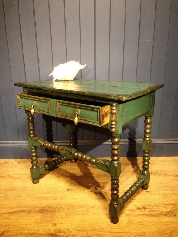 Late Victorian Painted Oak Side Table2