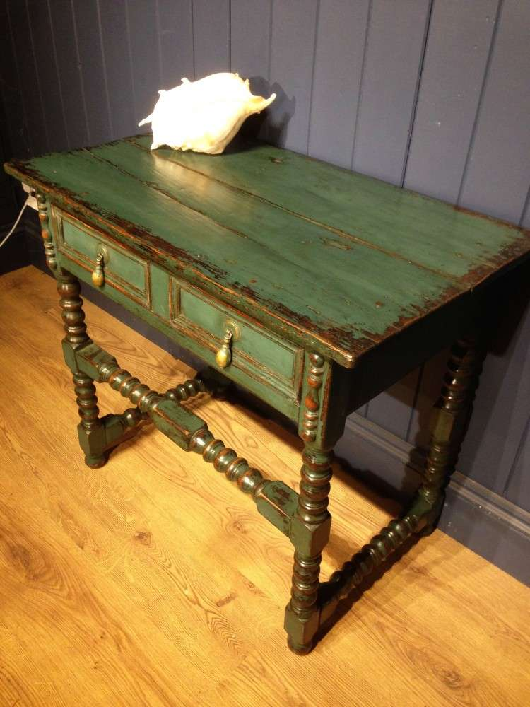 Late Victorian Painted Oak Side Table3