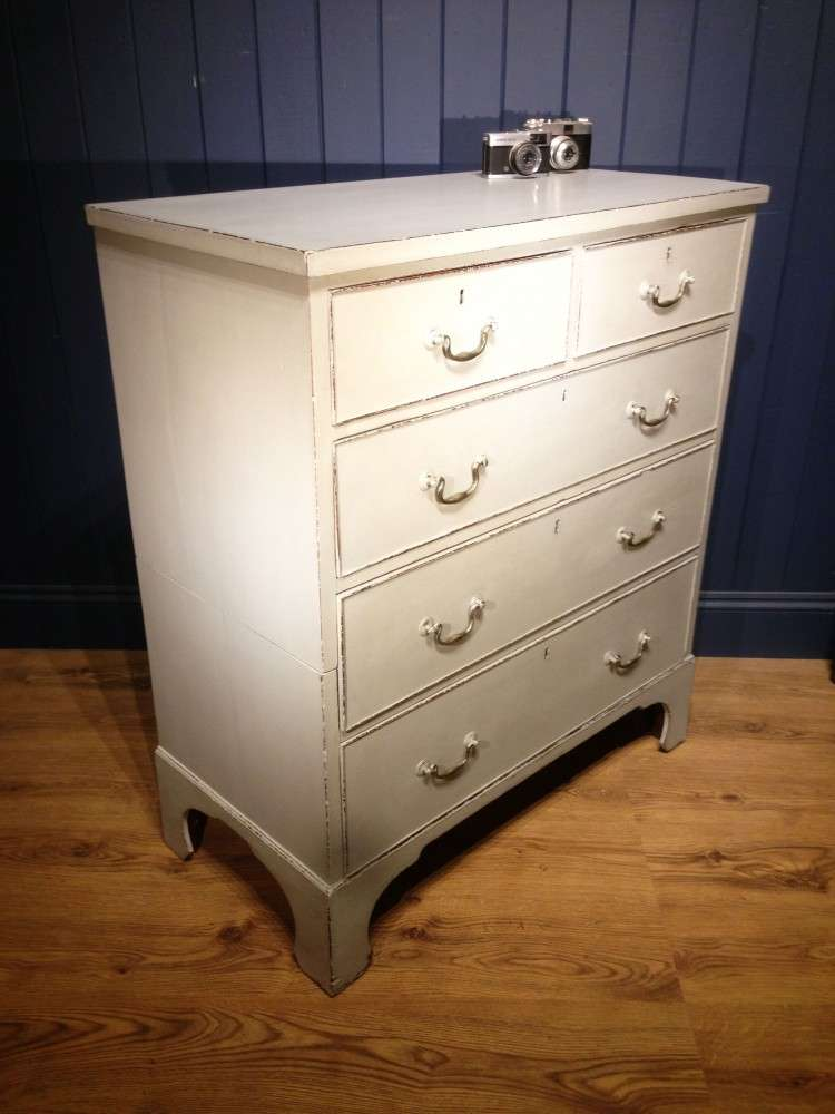Regency Painted Mahogany 5 Drawer Chest1