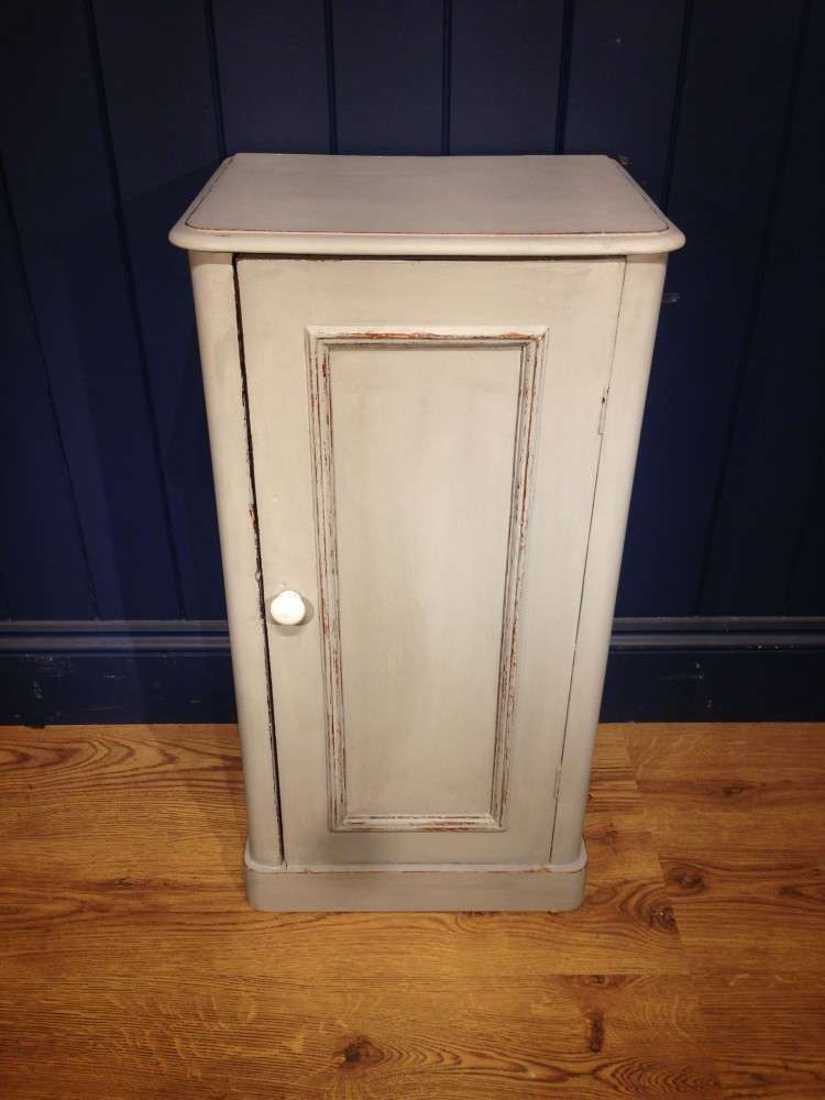 Mid Victorian Painted Pine Bedside Cupboard
