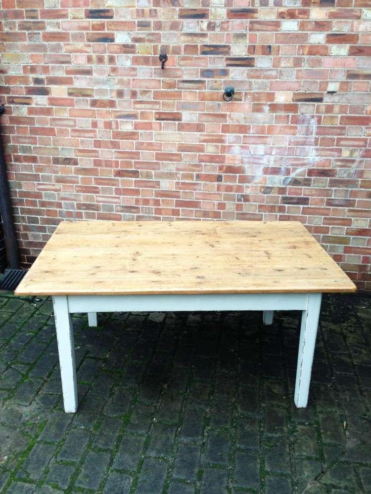 Mid 19th Century Cottage Kitchen Table1