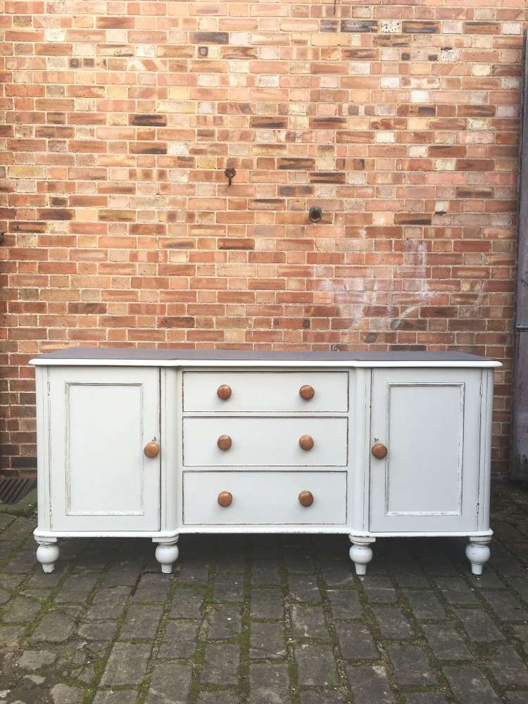 Mid Victorian Painted Mahogany Dresser Base