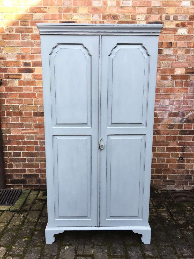 Edwardian Painted Oak Wardbobe George III