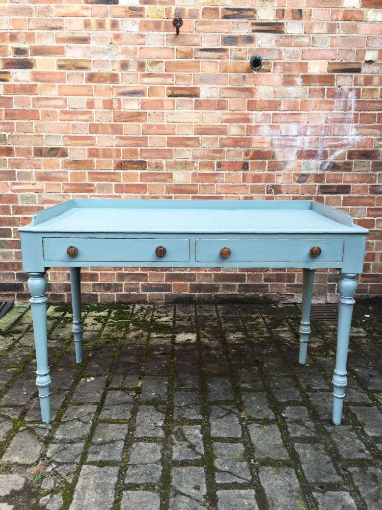 Late Victorian Painted Ash Writing Table