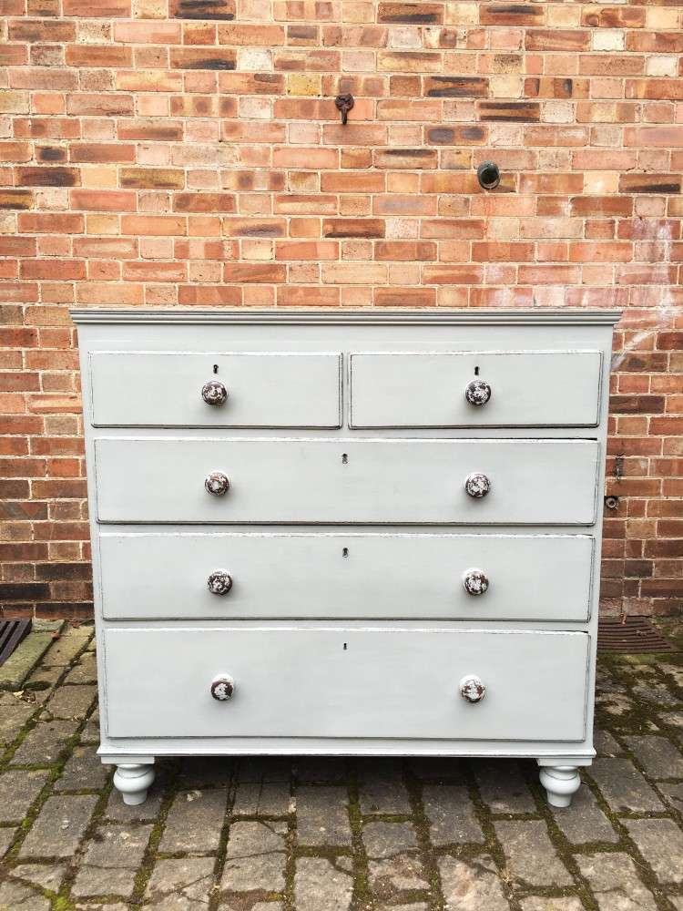 Victorian Painted Oak & Pine Chest