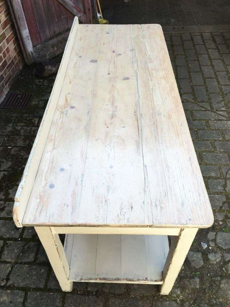 Early 19th Century Painted Pine Serving Table5