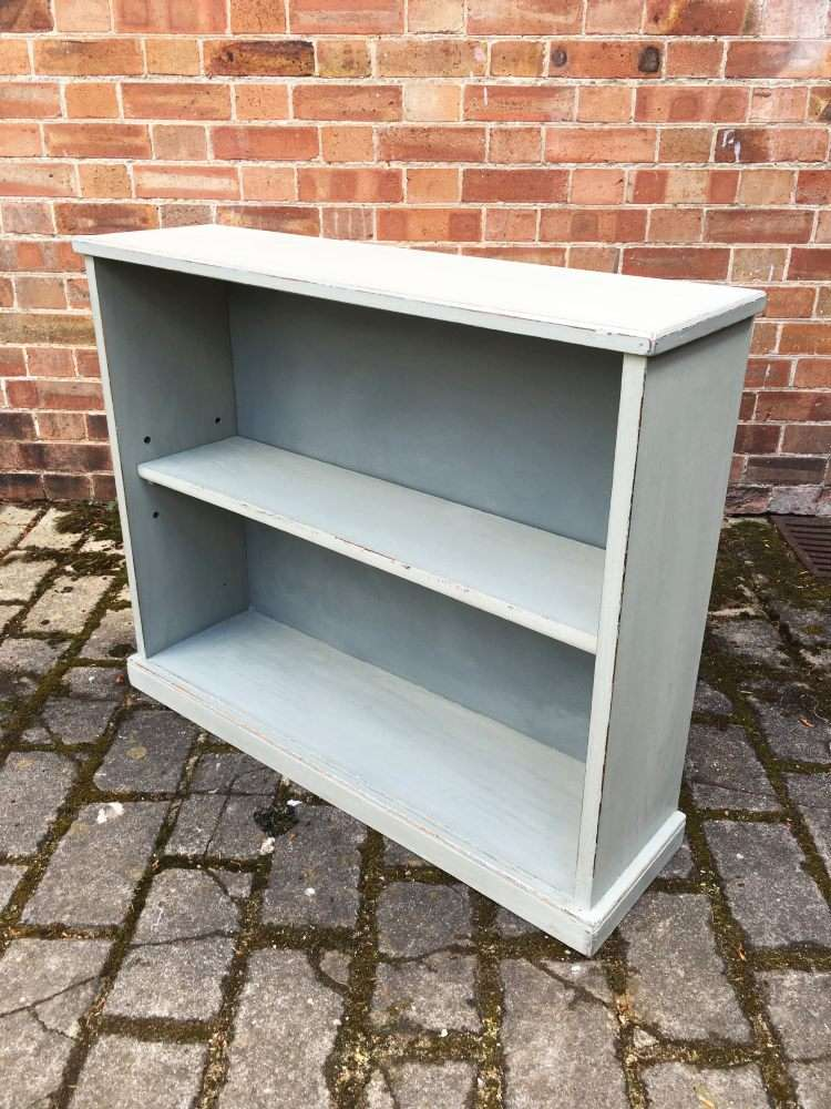 Edwardian Painted Oak Open Bookcase2