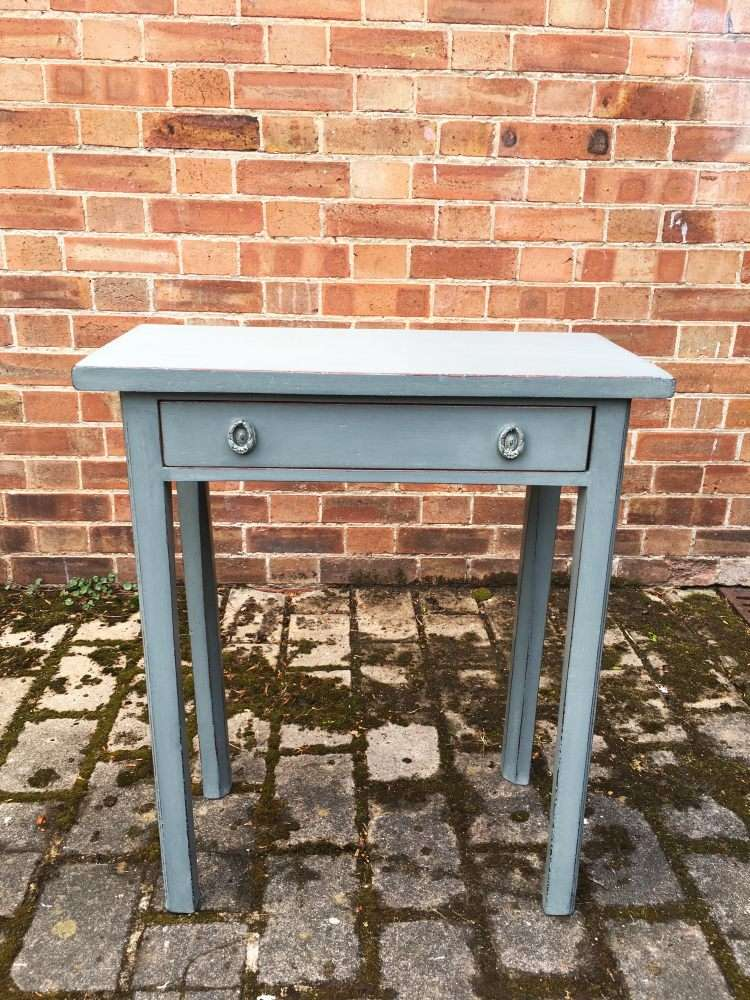 Small Georgian Painted Mahogany Side Table