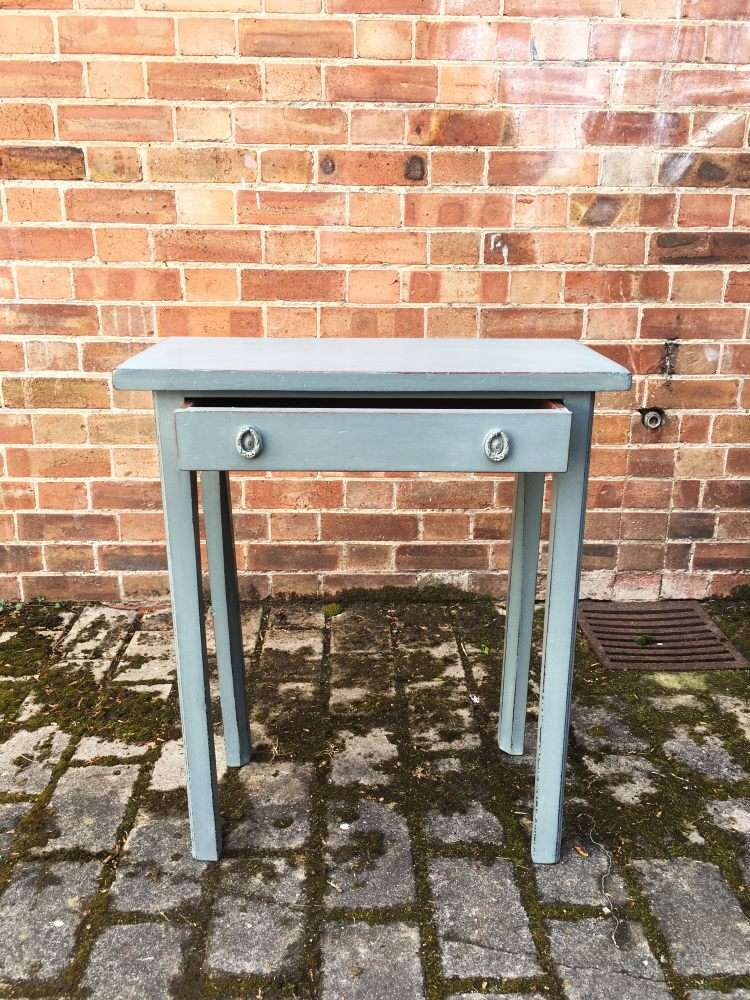 Small Georgian Painted Mahogany Side Table3
