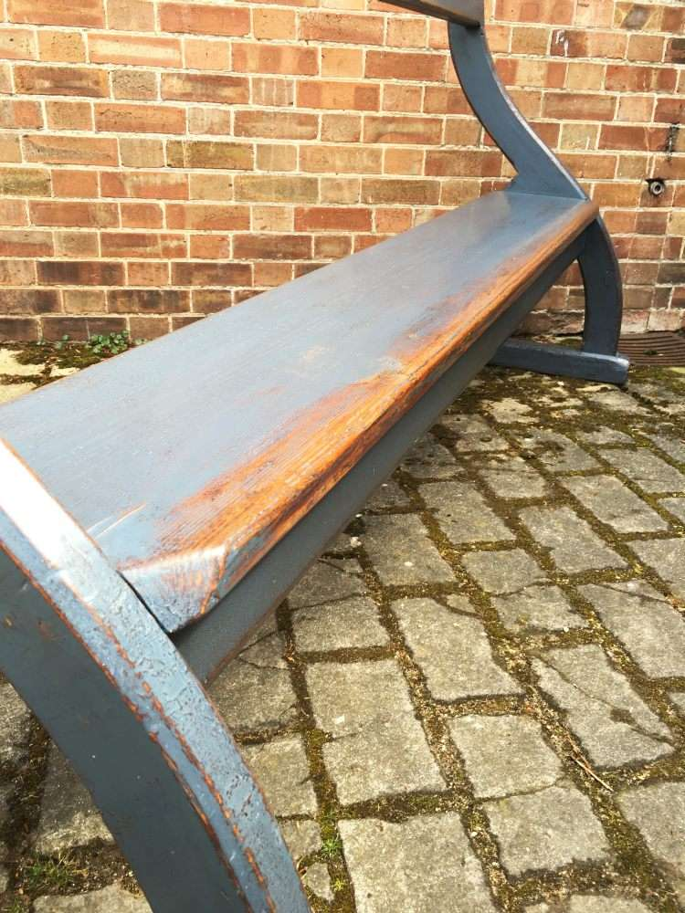 Late Victorian Painted Pine Bench Pew2