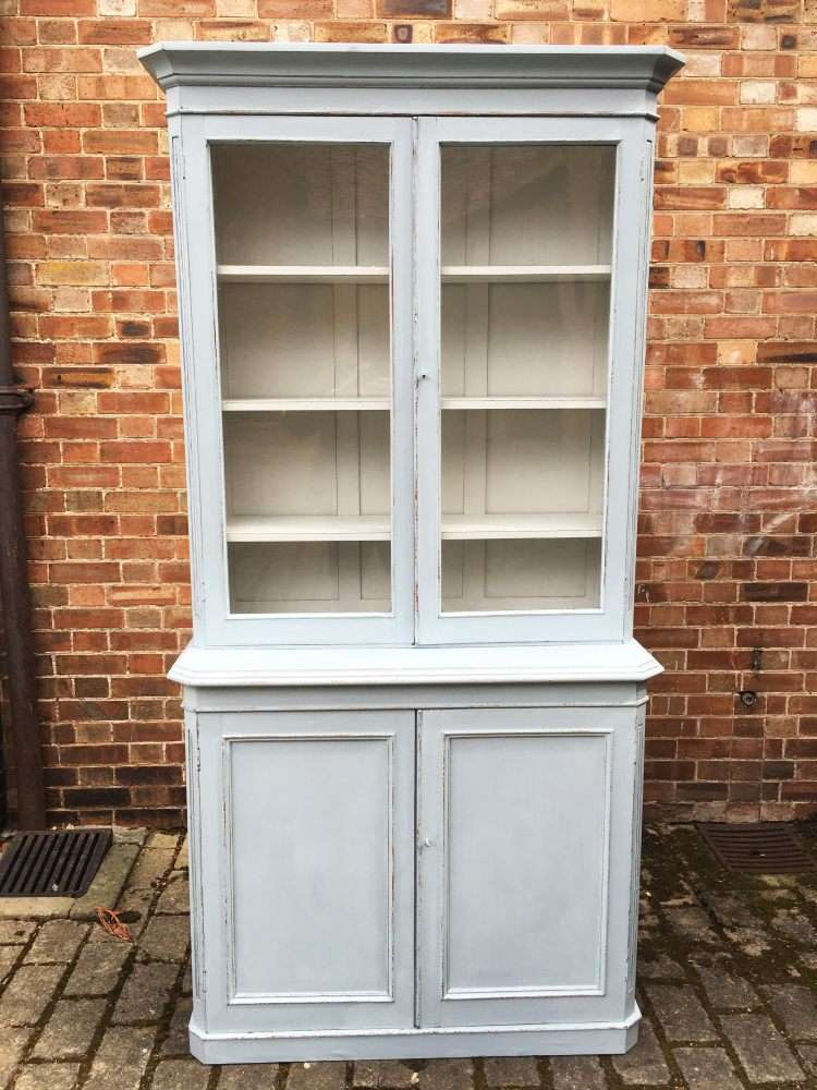 Mid Victorian Painted Mahogany Dresser/Bookcase