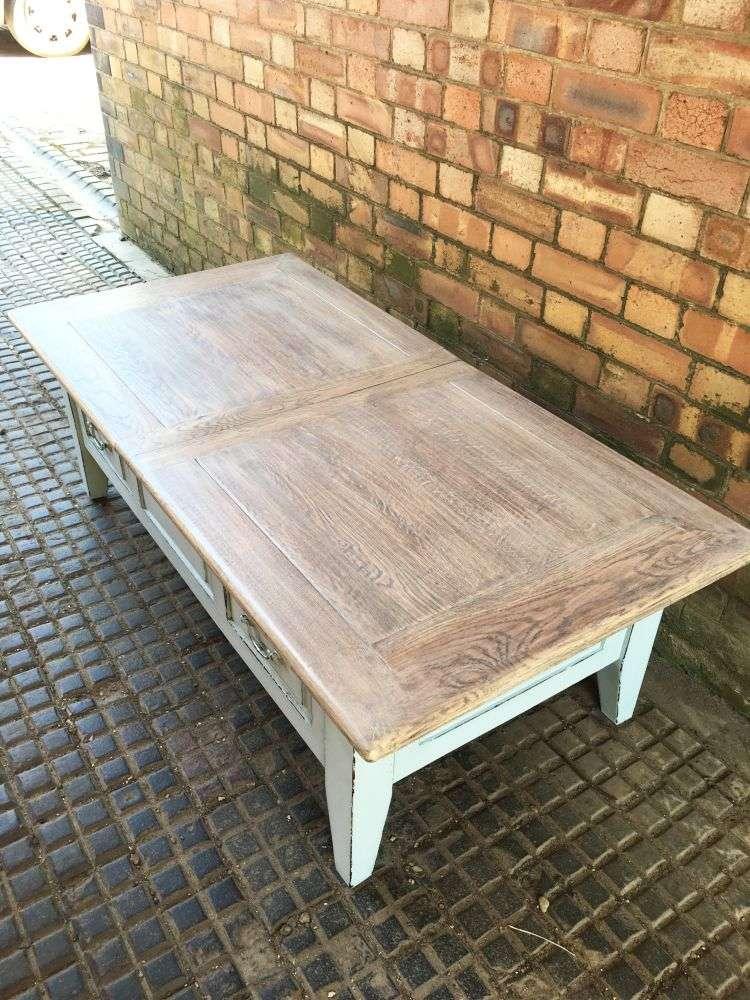 Painted Oak Coffee Table3