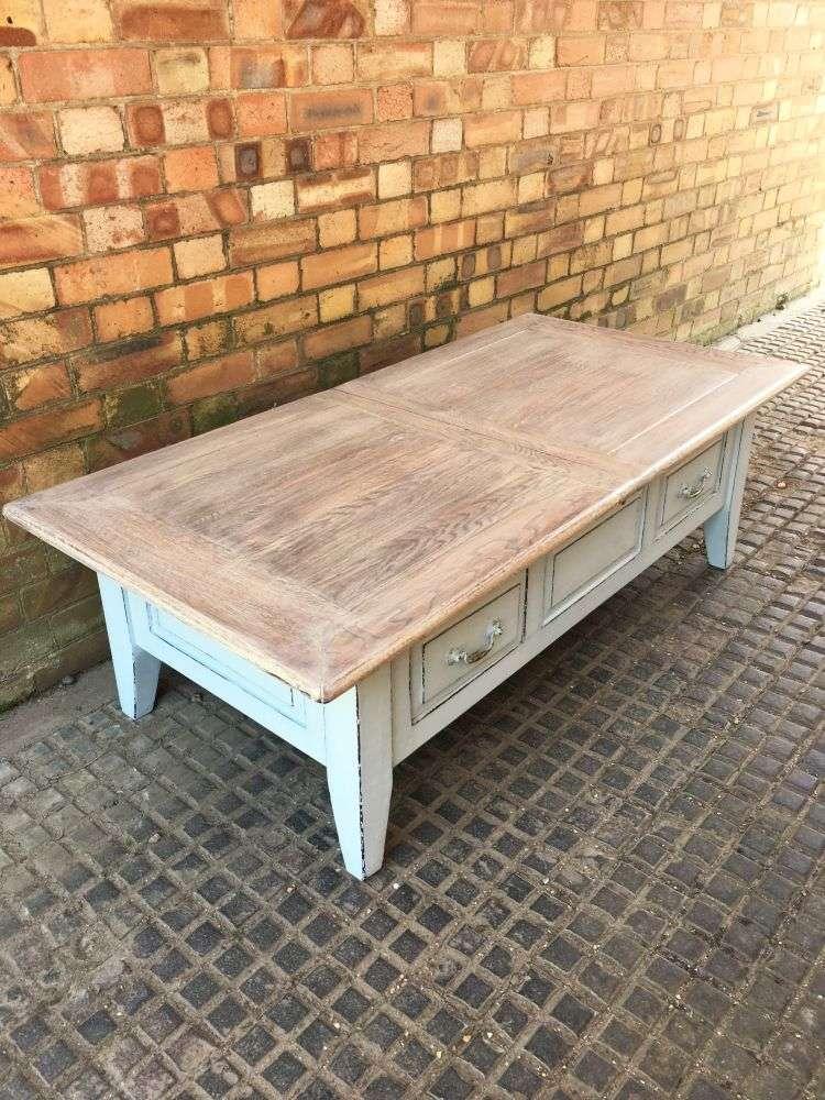 Painted Oak Coffee Table5