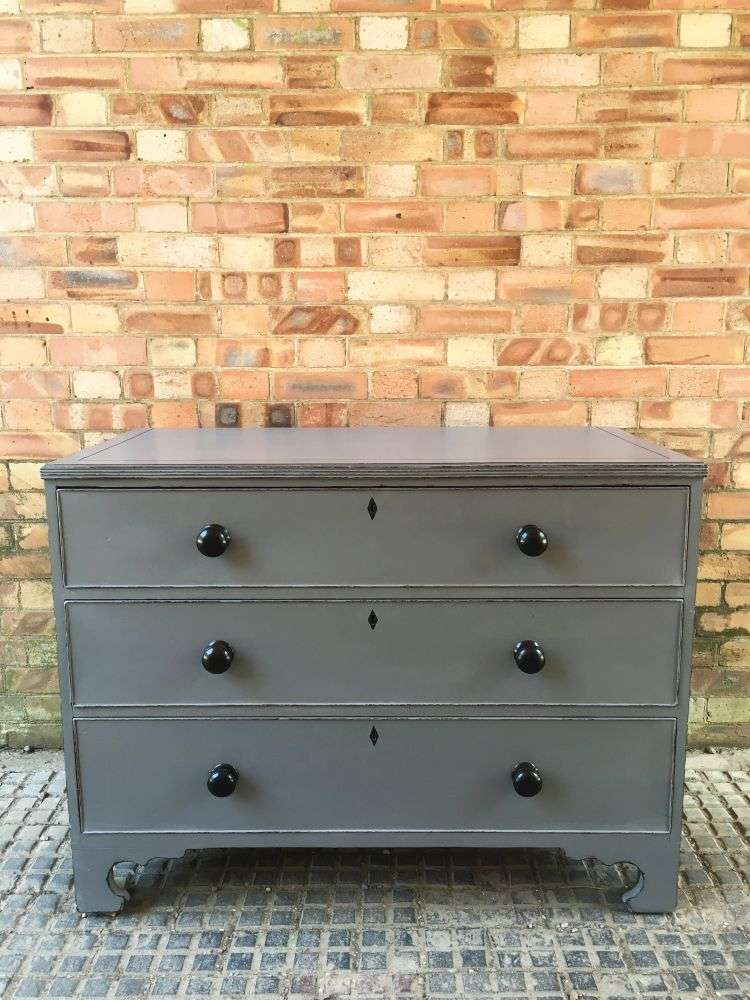Georgian Painted Mahogany Chest Of Drawers