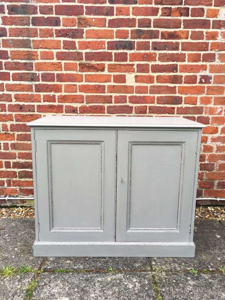 Edwardian Painted Walnut Cupboard