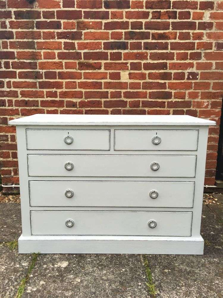 Edwardian Painted Mahogany Chest Of Drawers