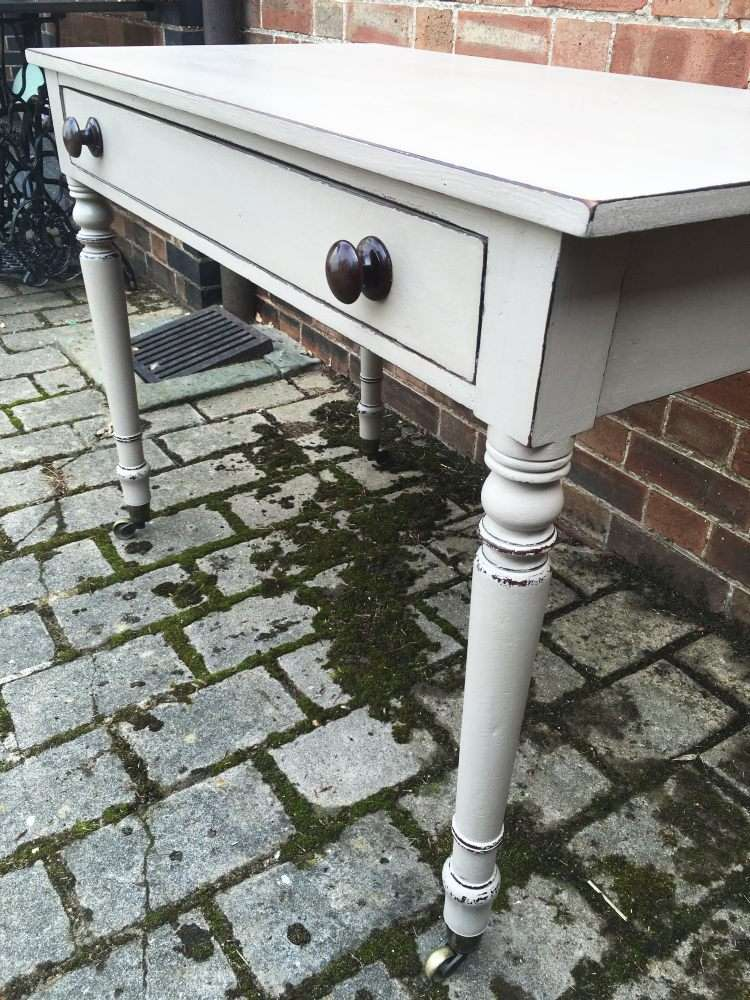 Mid Victorian Painted Mahogany Side Table4