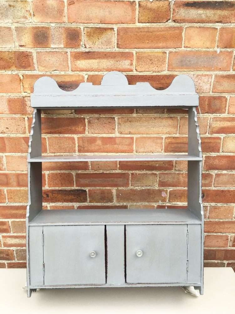 Edwardian Painted Oak Wall Cabinet