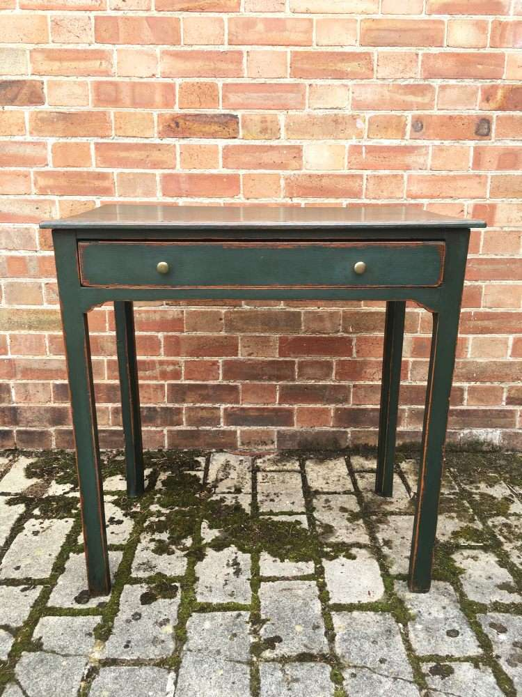 Georgian Painted Oak Country Sidetable