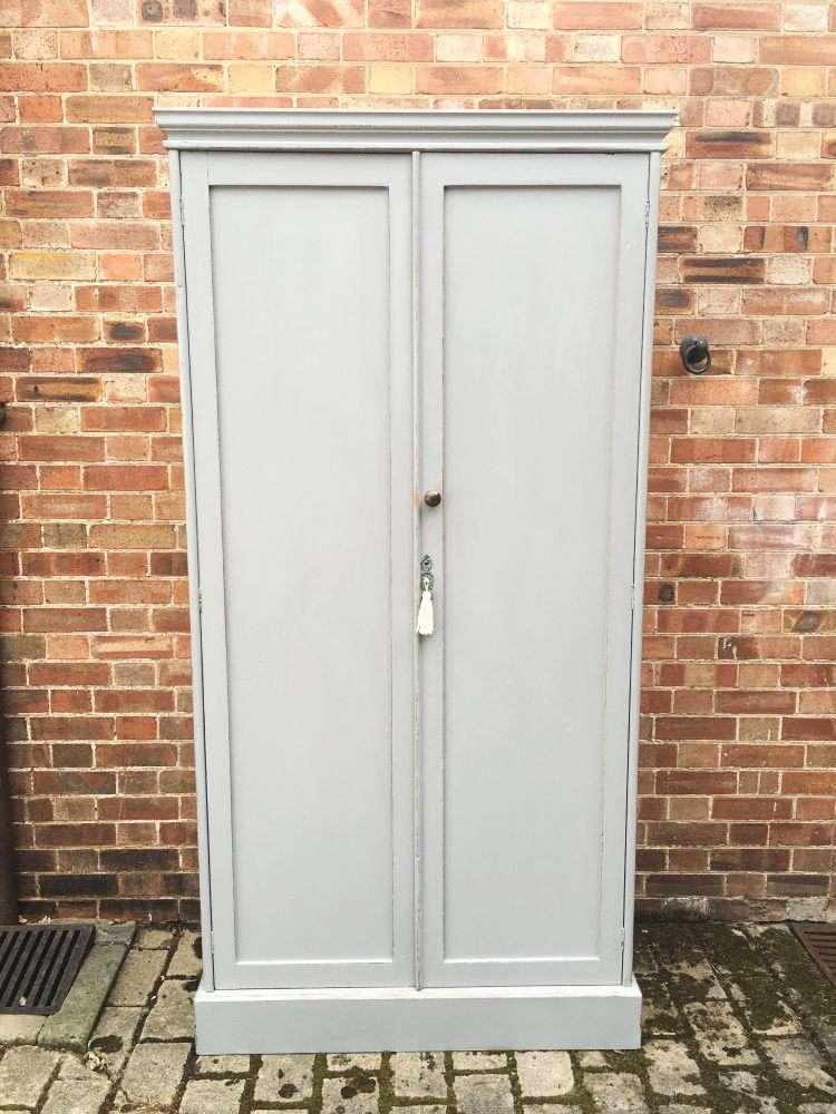 Victorian Painted Pine Larder or Linen Cupboard
