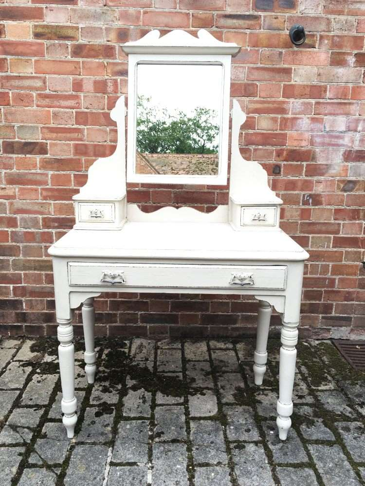 Late Victorian Painted Pine Dressing Table