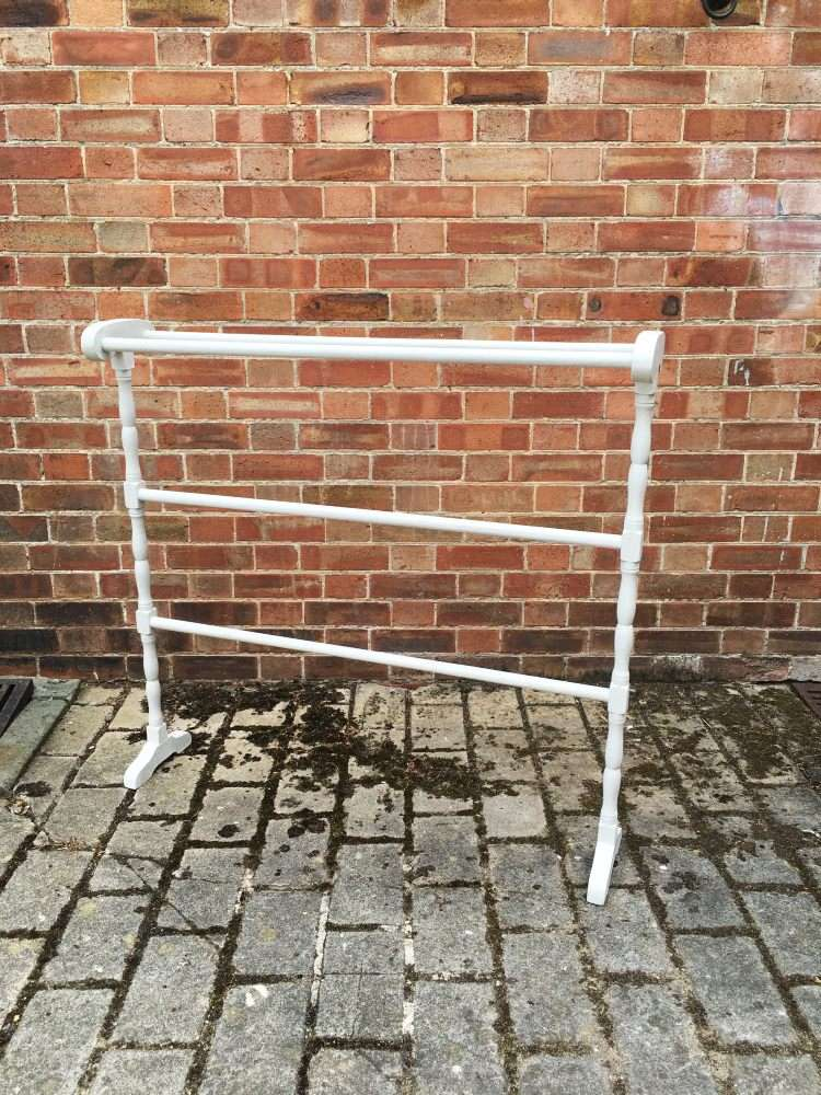 Victorian Large Painted Pine Towel Rail