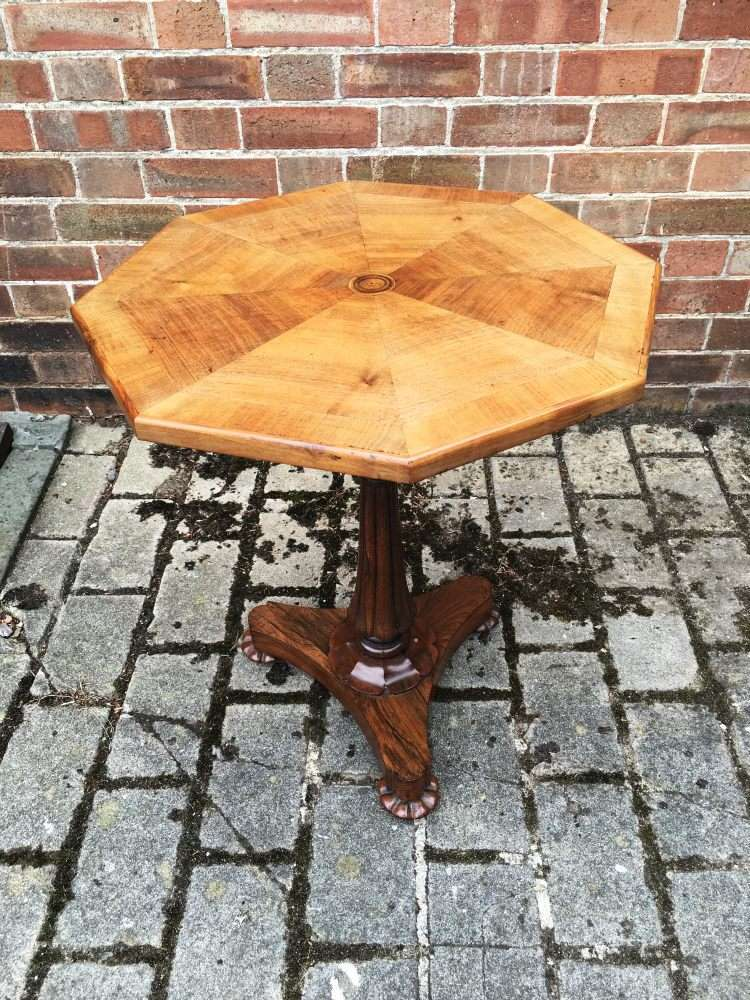 William IV Rosewood & Walnut Occasional Table1