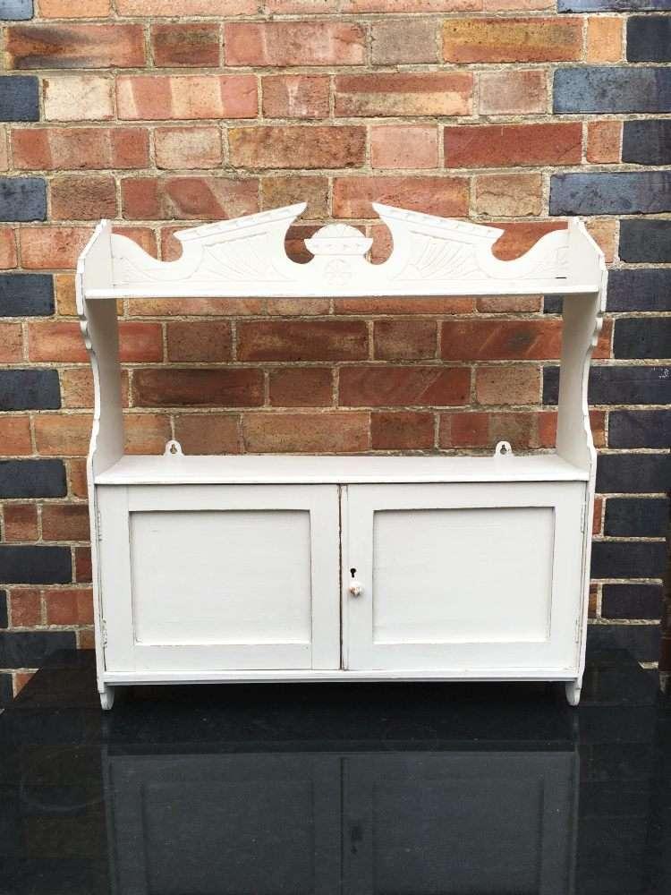 Edwardian Painted Pine Hanging Cabinet