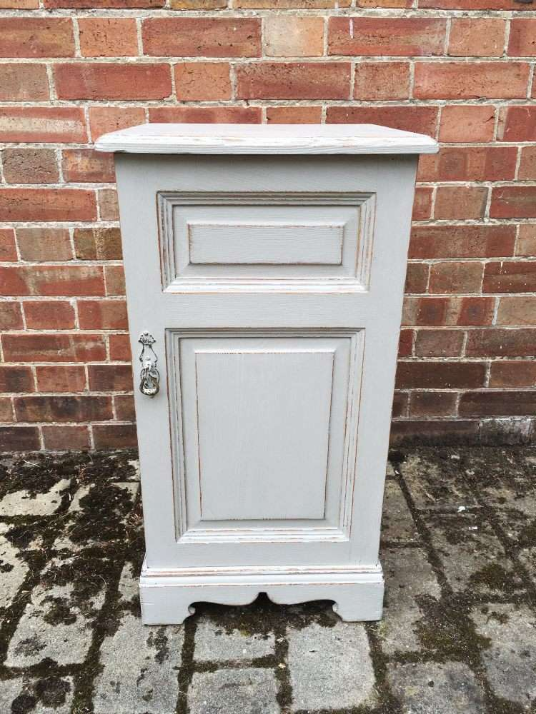 Victorian Painted Ash Bedside Cupboard