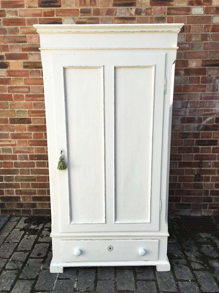 Victorian Painted Pine Child's Wardrobe