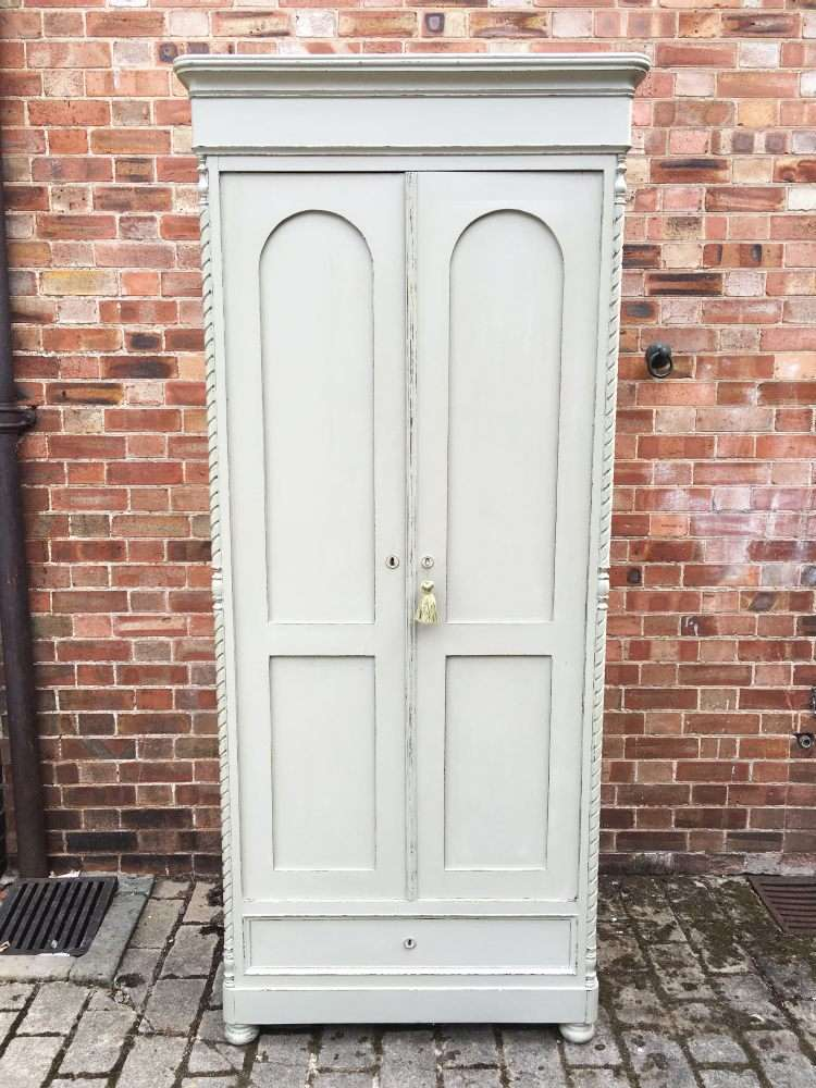 Victorian Painted Pine French Wardrobe