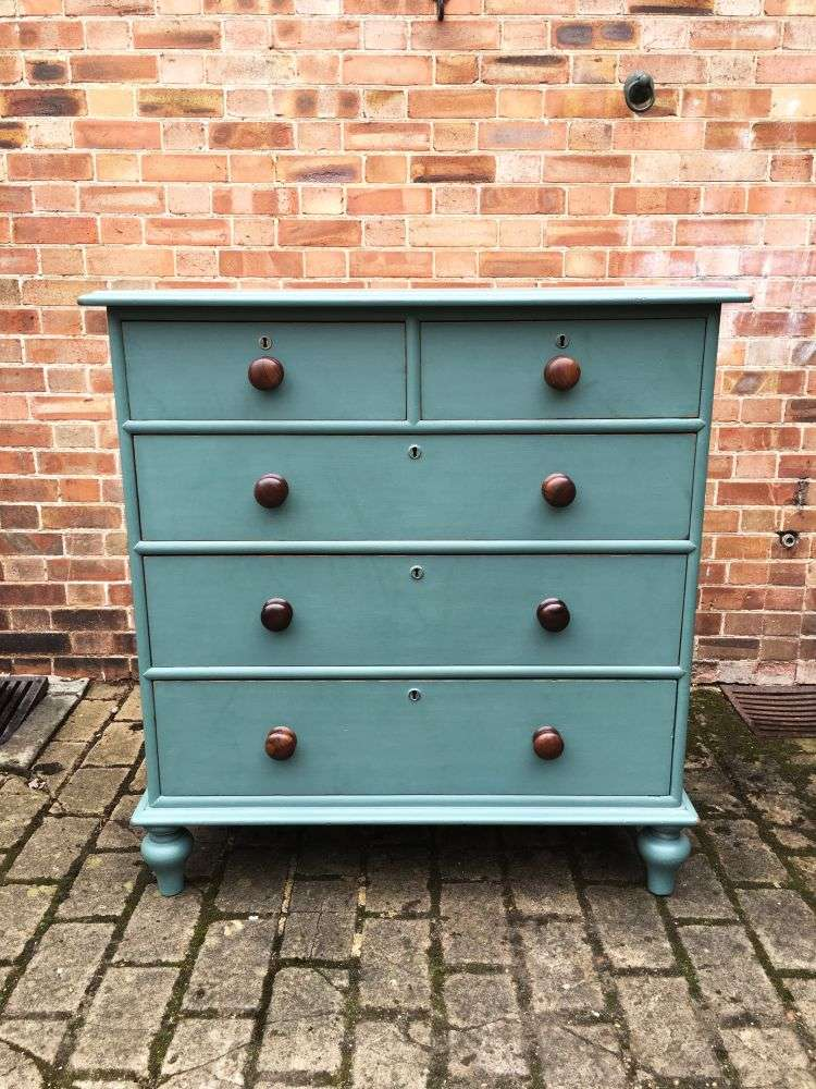 Victorian Painted Pitch Pine North Country Chest