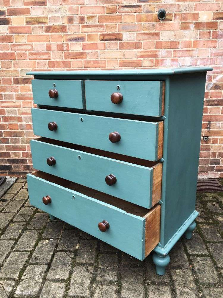 Victorian Painted Pitch Pine North Country Chest2