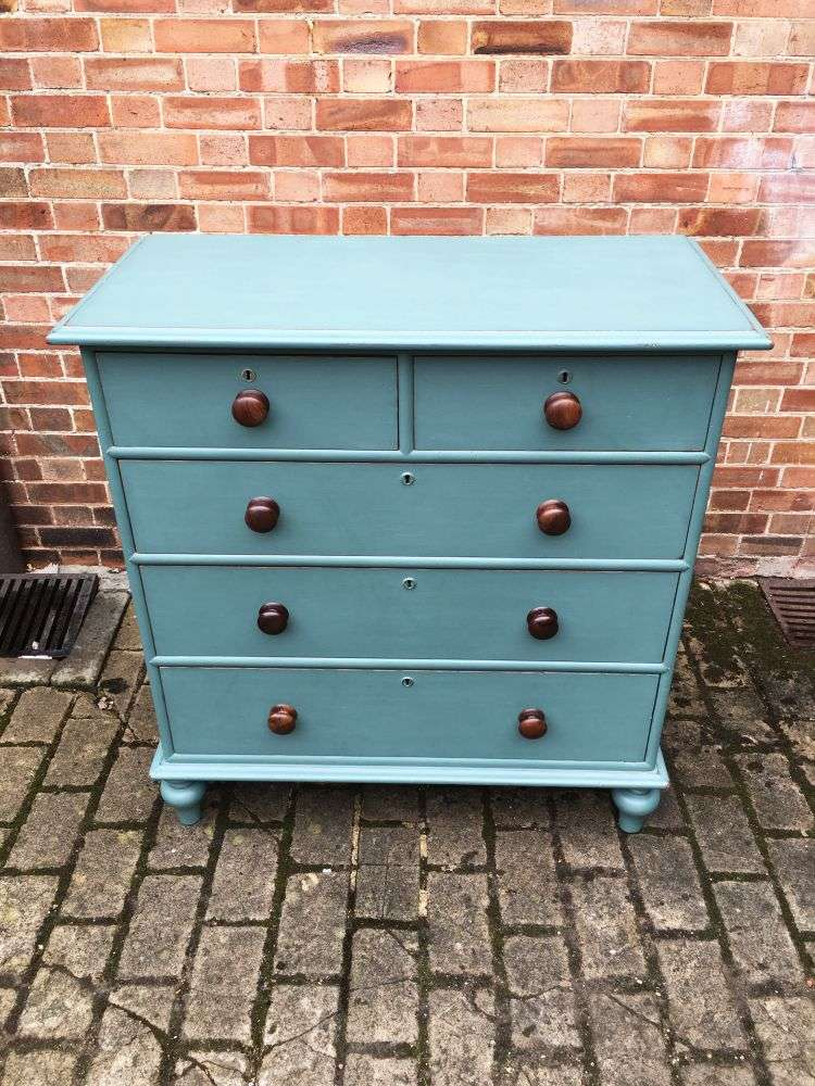 Victorian Painted Pitch Pine North Country Chest3