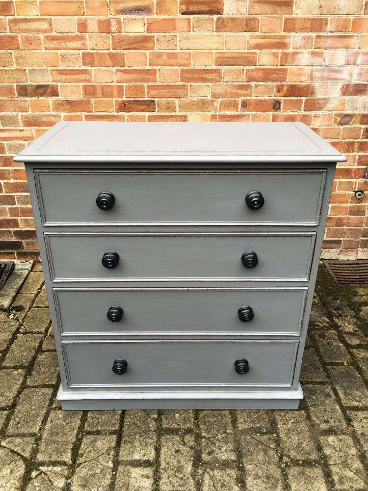 Mid Victorian Painted Mahogany Chest Of Drawers3