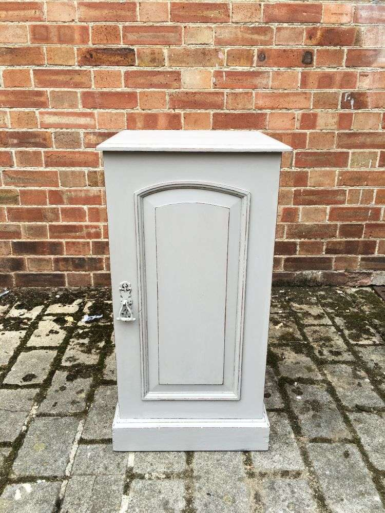 Late Victorian Painted Mahogany Pot Cupboard3