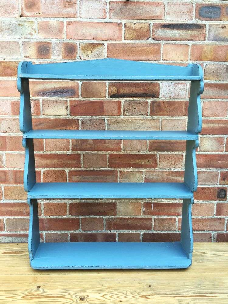 Early Victorian Painted Pine Hanging Shelves