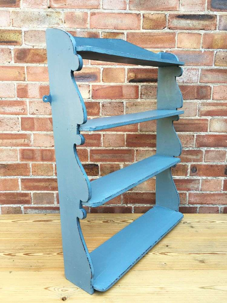 Early Victorian Painted Pine Hanging Shelves 1