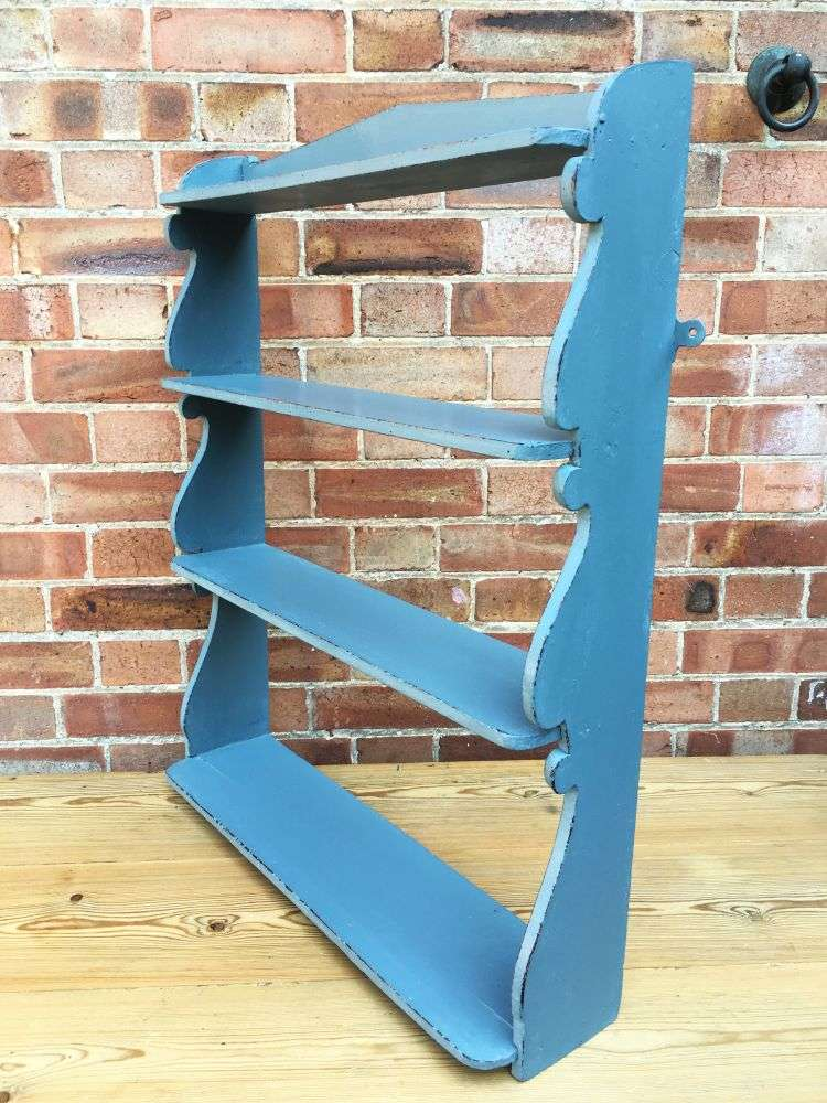 Early Victorian Painted Pine Hanging Shelves 2