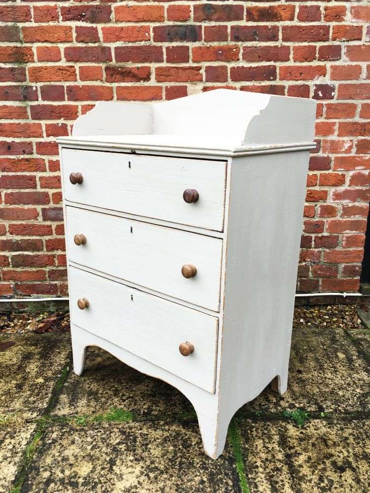 Regency Painted Pine Country Dresser Chest2