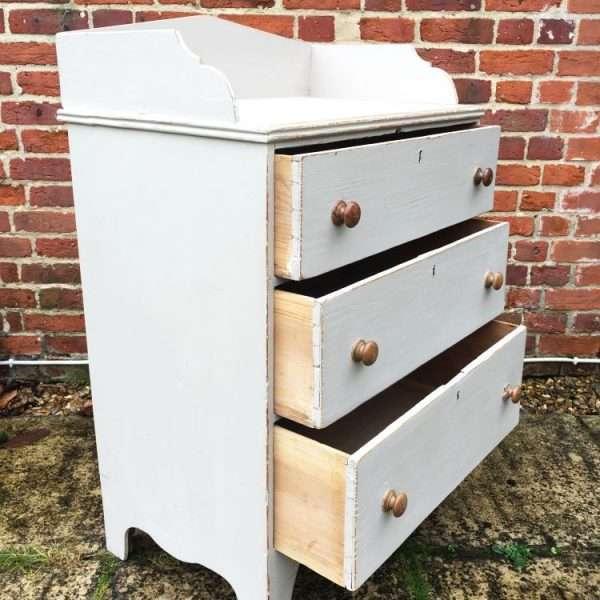Regency Painted Pine Country Dresser Chest1